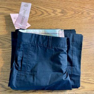 NWT Juicy Couture Hard Woven Black Pants Trousers